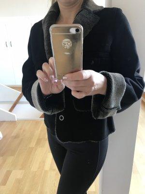Jacke schwarz kunstfelll