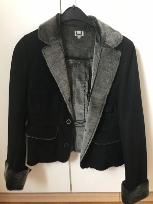 Adolfo Dominguez Fake Fur Jacket black