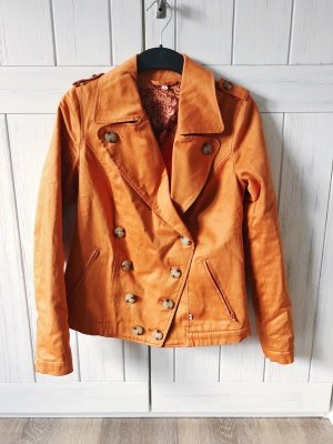Blutsgeschwister Short Jacket dark orange cotton