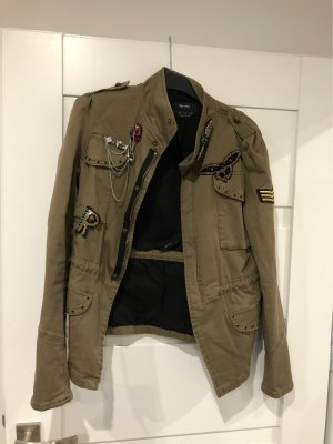 Zara Military Jacket khaki-olive green