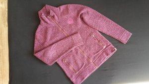Jacke Strickfleece M Esprit lila kuschelig Winter warm