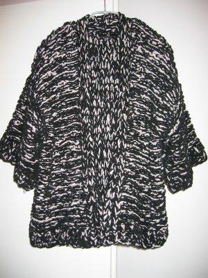 Jacke Strickjacke Cardigan Gr. 34 36 schwarz weiss H&M