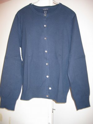 Jacke Strickjacke Cardigan Gr. 38 blau LANDS' END