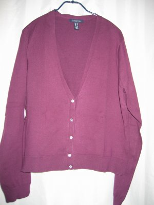 Jacke Strickjacke Cardigan Gr. 38 lila LANDS' END