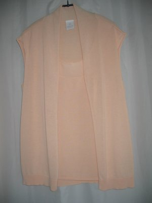 Jacke Top Strick Twin Set Two in One Gr. L 42 apricot MADELEINE