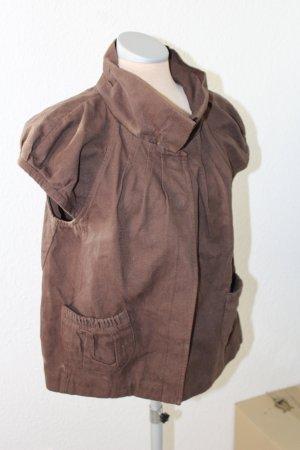 Topshop Blouse Jacket light brown cotton