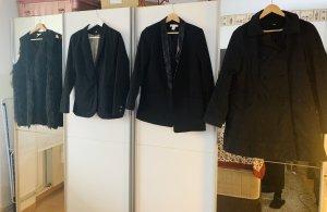Jacke Trenchcoat Set Größe 38/40 Fake Fur Weste H&M Fell Fellweste
