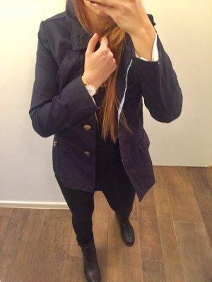 Jacke Trenchcoat Überzieher Mantel Cape mit Knöpfen zum Schnüren langärmlig