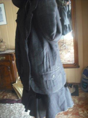 Jacke u.Rock Set Jeans Blazer Weste Kombination KostümgestreiftXL