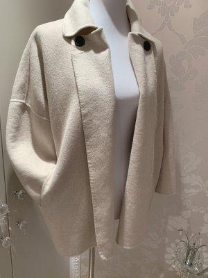 Zara Chaqueta de entretiempo blanco puro-crema