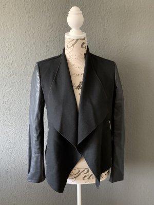 TRF Faux Leather Jacket black