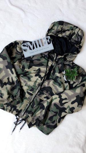 Jacke übergangsjacke Regenjacke Camouflage Damen Kapuze