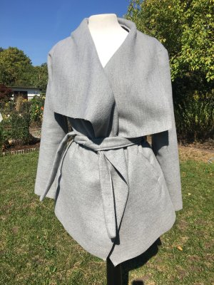 Wraparound Jacket light grey-silver-colored