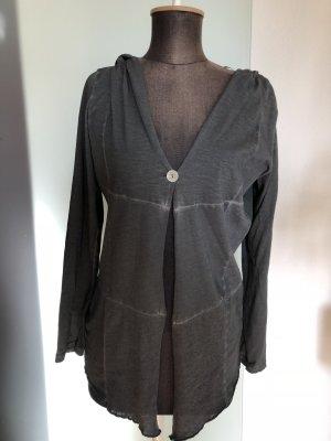 Veste chemisier argenté-gris