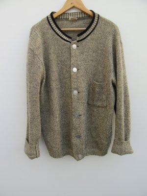 Vintage Chaleco folclórico gris-marrón