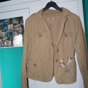 Jacke von Amisu beige Stickerei Gr. 36 S