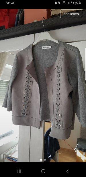 Beauty Women Short Jacket silver-colored-light grey