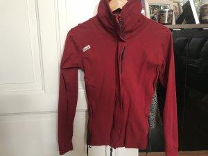 Bench Jacket dark red-black cotton