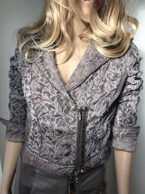 Biba Korte blazer grijs-bruin-licht beige