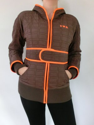 Quilted Jacket brown-orange polyester