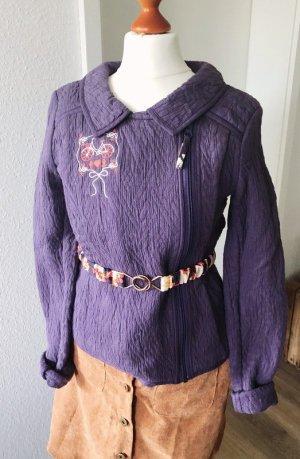 Jacke von Blutsgeschwister lila Gr. S 36 Gürtel Retro