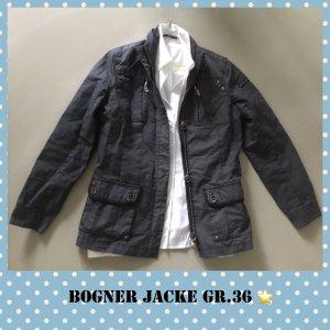 Bogner College jack donkergrijs-grijs Gemengd weefsel