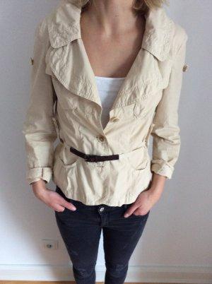 Jacke von BOSS Orange in beige / kurzer Trenchcoat/ Gr. 34 / wie neu