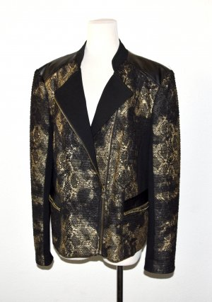 Gerry Weber Giacca-camicia nero-oro Tessuto misto