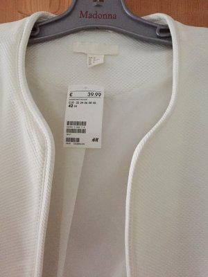 Jacke von H&M in wollweiß Größe 42