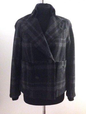 Jacke von Kookai Gr. 36, kariert, mit Wolle, ungetragen