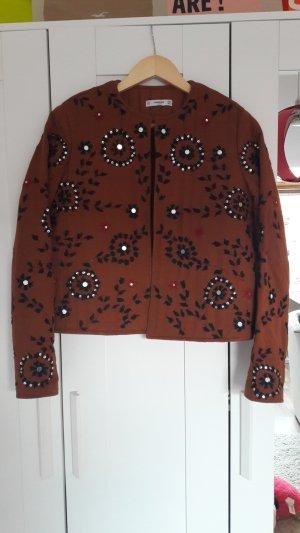Jacke von Mango Größe M braun