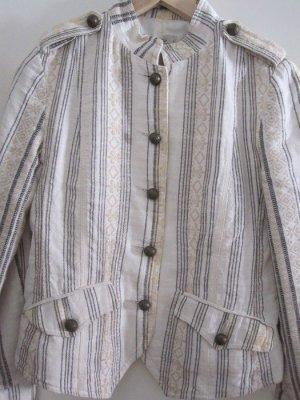 Jacke von Mango in Naturtönen mit bronzefarbenen Knöpfen, Größe M.