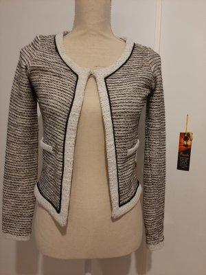 Naf naf Knitted Blazer black-natural white