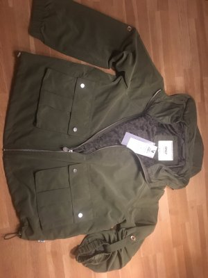 Only Hoody olive green polyester