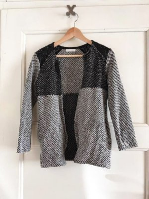Jacke von Promod in grau-schwarz, Größe X/XS 34/36