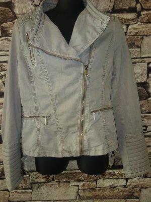 Rino & Pelle Biker Jacket grey-beige cotton
