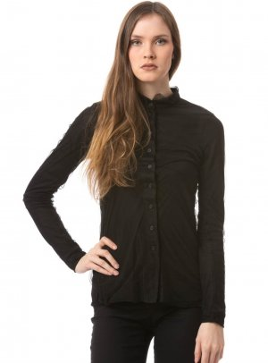 Blouse Jacket black nylon