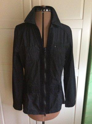Street One Long Jacket black cotton
