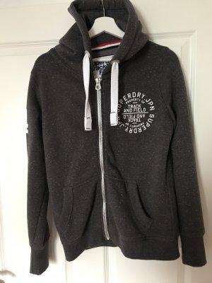 Superdry Chaqueta con capucha gris oscuro