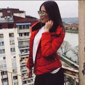 Zara Chaqueta de entretiempo rojo