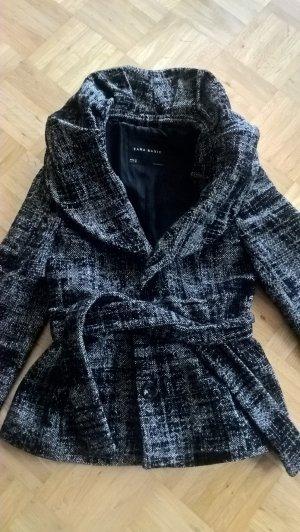 Zara Vareuse blanc-noir tissu mixte