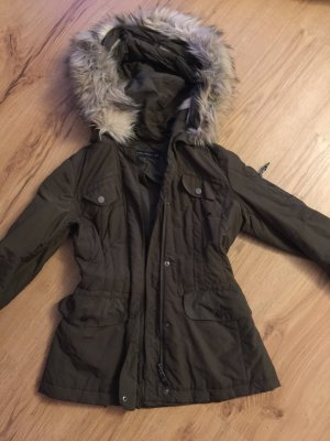 Zara Fake Fur Jacket khaki