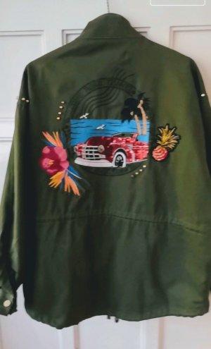 Jacke von Zara mit Applikationen