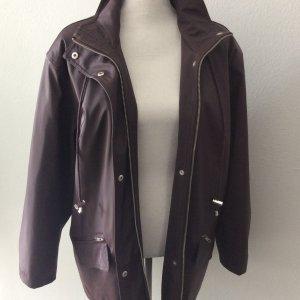 Veste longue bordeau-violet tissu mixte
