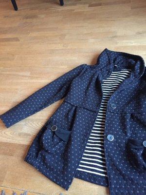 Jacke Yumi schwarz mit kleinen weißen Herzchen Gr. L
