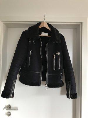 Zara Vliegeniersjack zwart-donkerblauw