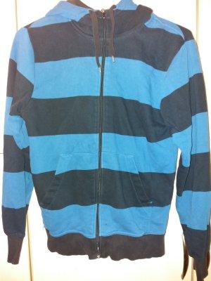 Jacke * Zipper * gestreift * blau * schwarz * Männer & Frauen * Größe M * H&M