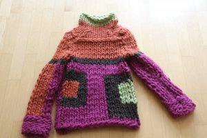 Jackeeh Pullover - dicke Wolle GR. 36