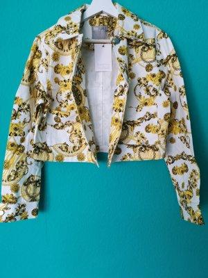 Asos Denim Jacket white-yellow