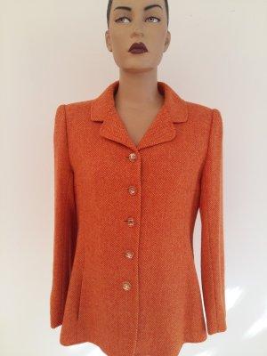 Wool Blazer neon orange-salmon wool